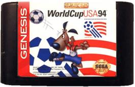 Cartridge artwork for World Cup USA '94 on the Sega Genesis.