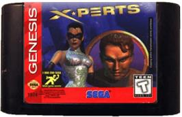 Cartridge artwork for X-Perts on the Sega Genesis.