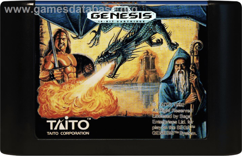Cartridge artwork for Cadash on the Sega Genesis.