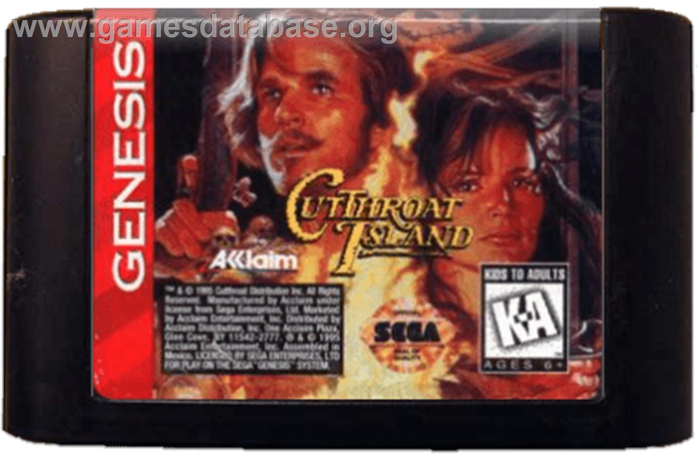 Cutthroat Island - Sega Genesis - Artwork - Cartridge