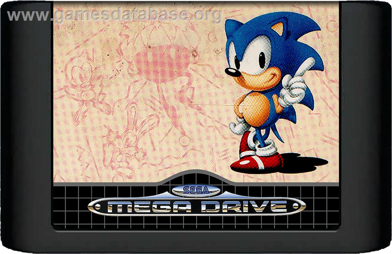 Sonic The Hedgehog Sega Genesis Artwork Cartridge