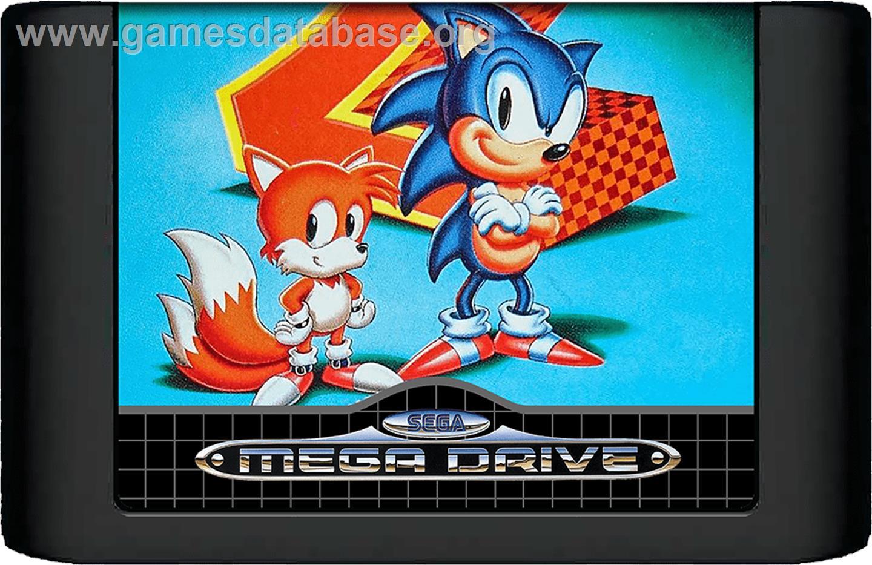 Sonic The Hedgehog 2 Sega Genesis Artwork Cartridge