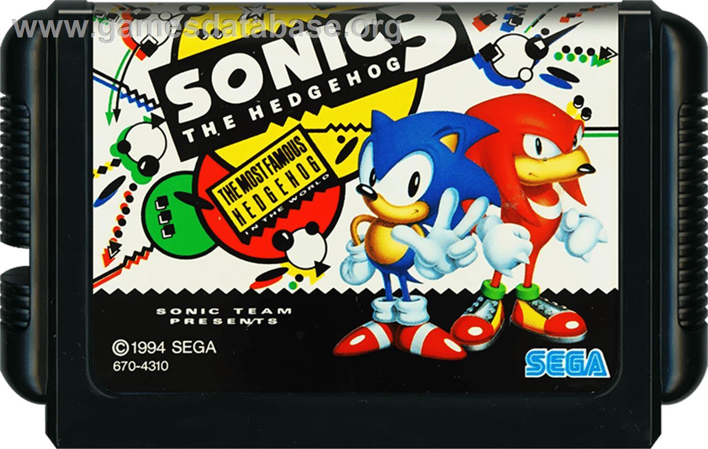 Sonic The Hedgehog 3 Sega Genesis Artwork Cartridge