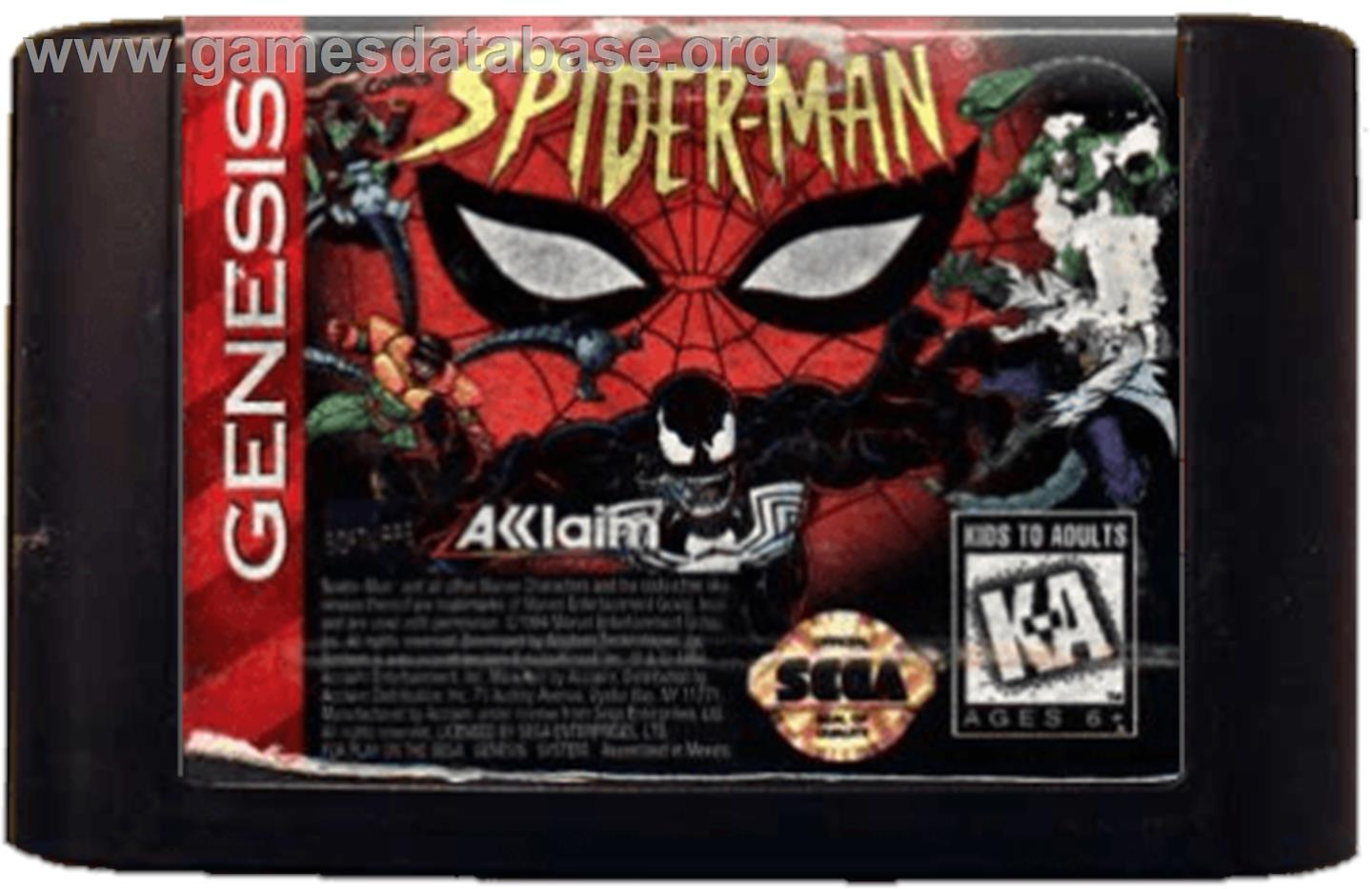 Spider-Man: The Animated Series - Sega Genesis - Artwork - Cartridge