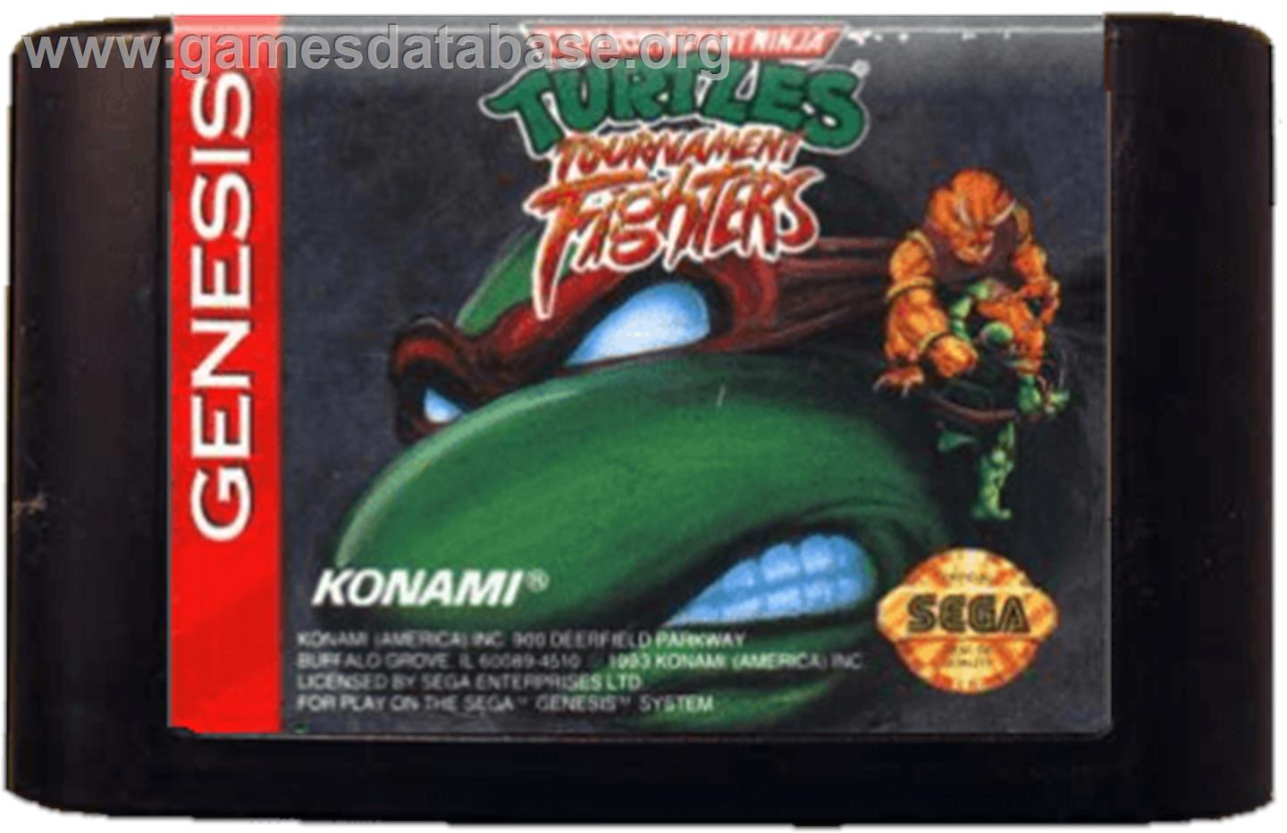 Teenage Mutant Ninja Turtles: Tournament Fighters - Sega Genesis - Artwork - Cartridge