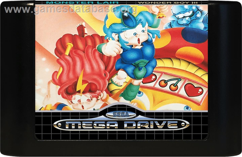 Wonder Boy III - Monster Lair - Sega Genesis - Artwork