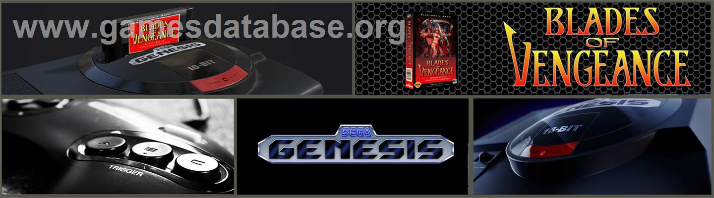 Blades of Vengeance - Sega Genesis - Artwork - Marquee