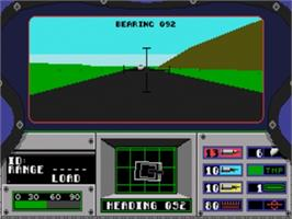 In game image of Abrams Battle Tank on the Sega Genesis.