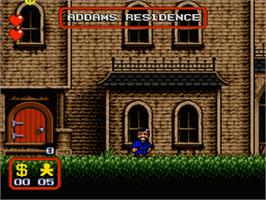 In game image of Addams Family, The on the Sega Genesis.