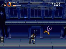 In game image of Adventures of Batman and Robin, The on the Sega Genesis.