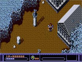 In game image of Arcus Odyssey on the Sega Genesis.