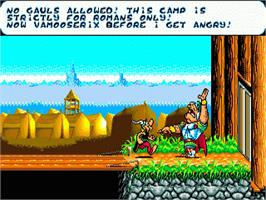 In game image of Asterix and the Power of the Gods on the Sega Genesis.