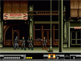 In game image of Batman: The Video Game on the Sega Genesis.
