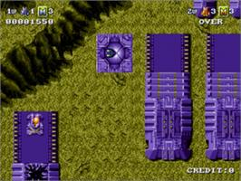 In game image of Battle Squadron on the Sega Genesis.