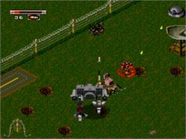 In game image of Battletech: A Game of Armored Combat on the Sega Genesis.