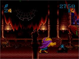 In game image of Beauty and the Beast: Roar of the Beast on the Sega Genesis.