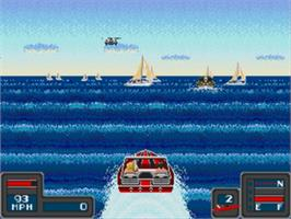 In game image of Bimini Run on the Sega Genesis.