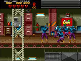 In game image of Body Count on the Sega Genesis.