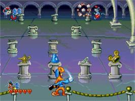 In game image of Bonkers on the Sega Genesis.