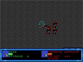 In game image of Buck Rogers: Countdown to Doomsday on the Sega Genesis.