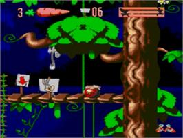 In game image of Bugs Bunny in Double Trouble on the Sega Genesis.