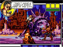 In game image of Comix Zone on the Sega Genesis.