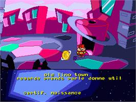 In game image of Cosmic Spacehead on the Sega Genesis.