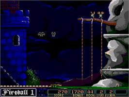 In game image of Dark Castle on the Sega Genesis.