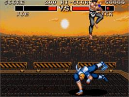 In game image of Deadly Moves on the Sega Genesis.