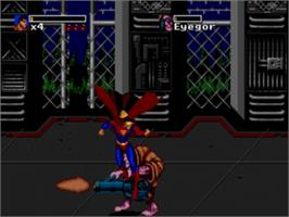 In game image of Death and Return of Superman, The on the Sega Genesis.