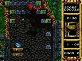 In game image of Devilish on the Sega Genesis.