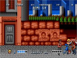 In game image of Double Dragon on the Sega Genesis.