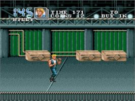 In game image of Double Dragon 3 - The Rosetta Stone on the Sega Genesis.