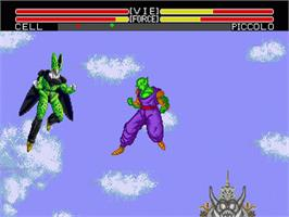 In game image of Dragonball Z: L'Appel Du Destin on the Sega Genesis.