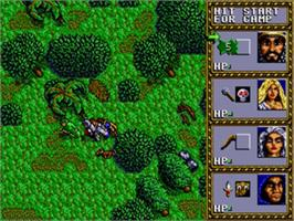 In game image of Dungeons & Dragons: Warriors of the Eternal Sun on the Sega Genesis.