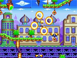 In game image of Dynamite Headdy on the Sega Genesis.