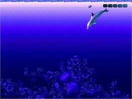 In game image of Ecco 2: The Tides of Time on the Sega Genesis.