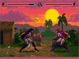 In game image of Eternal Champions on the Sega Genesis.