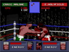 In game image of Evander Holyfield's
