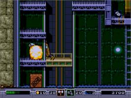In game image of Ex-Mutants on the Sega Genesis.