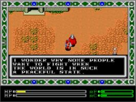 In game image of Exile on the Sega Genesis.