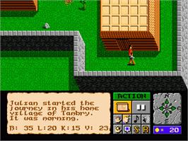 In game image of Faery Tale Adventure, The on the Sega Genesis.