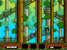 In game image of Fantastic Adventures of Dizzy, The on the Sega Genesis.