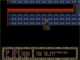 In game image of Fatal Labyrinth on the Sega Genesis.