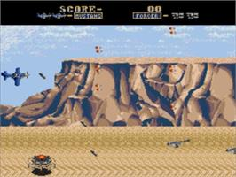 In game image of Fire Mustang on the Sega Genesis.
