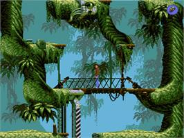 In game image of Flashback on the Sega Genesis.