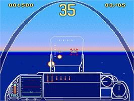 In game image of G-Loc Air Battle on the Sega Genesis.