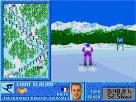 In game image of Games: Winter Challenge, The on the Sega Genesis.