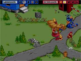 In game image of General Chaos on the Sega Genesis.