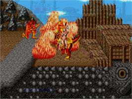 In game image of Golden Axe on the Sega Genesis.